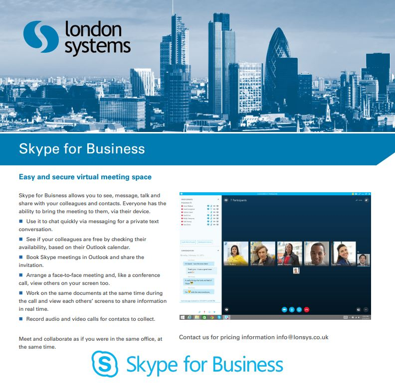 Skype for Business with London Systems