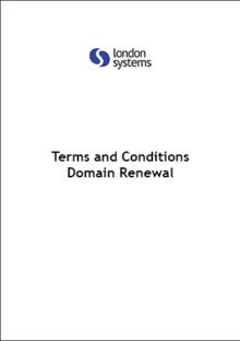 Domain Renewal